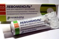 Левомеколь для лечения мокрой мозоли на пятке