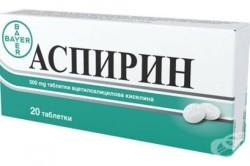 Использование аспирина при трещинах на пятках