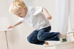 Неудачный прыжок - причина растяжения связок стопы